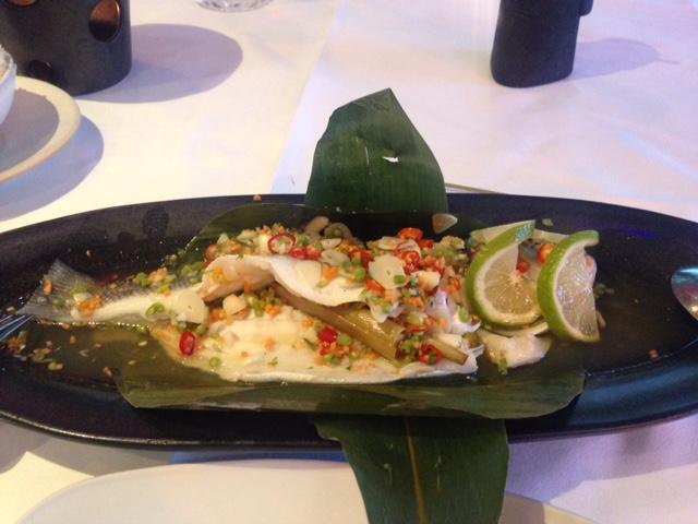 Thai Saquare fish main Sea bass
