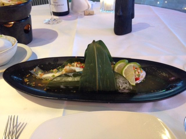 Thai Square Sea Bass wrapped
