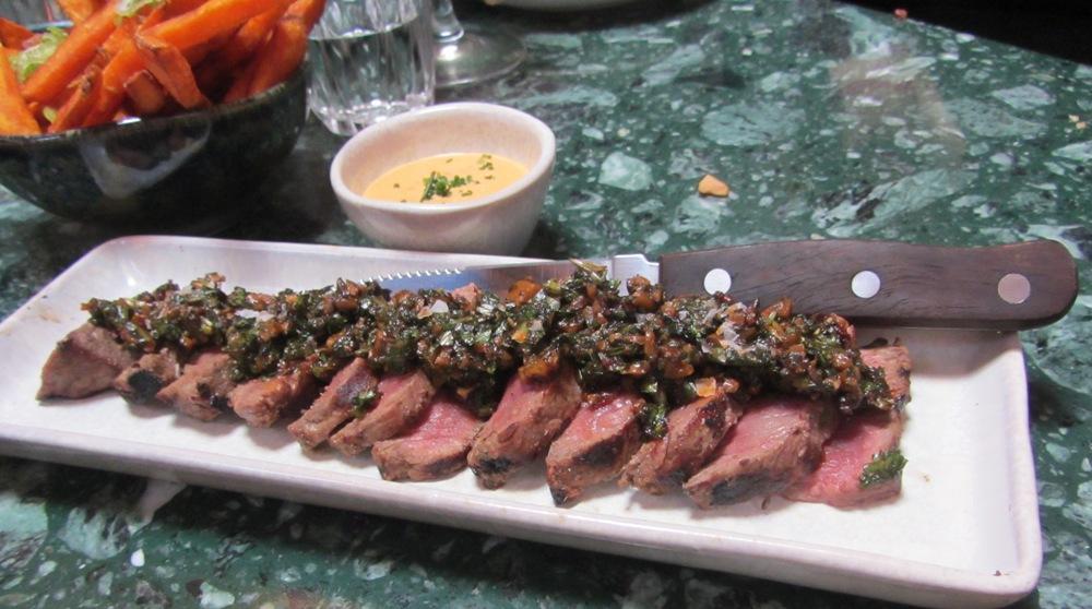 senor ceviche - steak and sweet potatoes