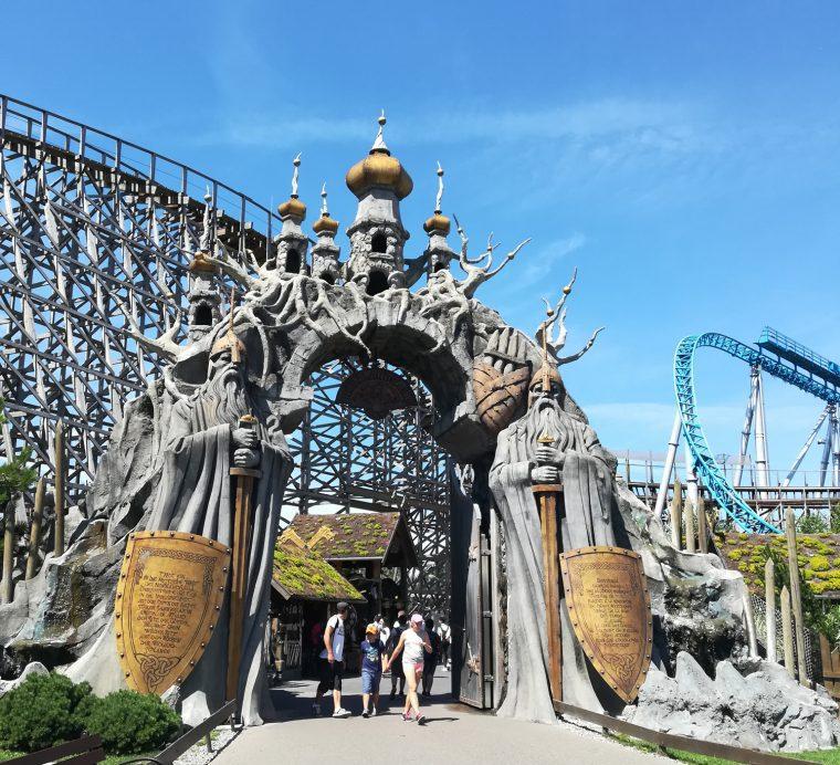 Gate in the Scandinavian Section - Baden-Baden Theme Park