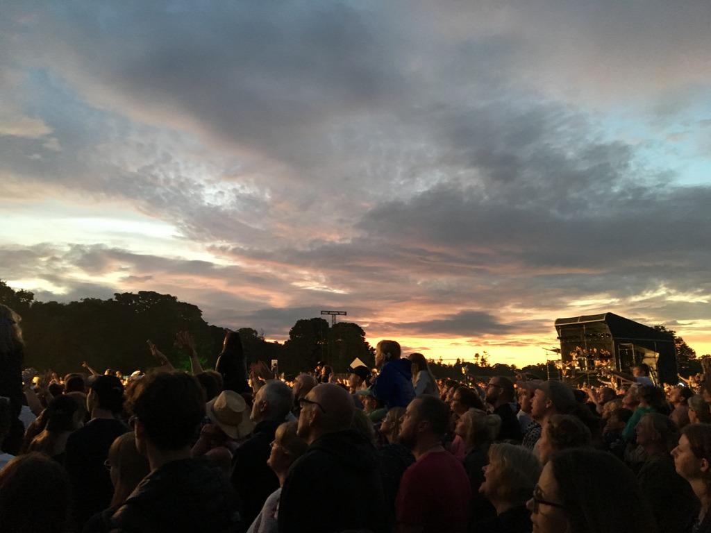 Latitude 2017 - crowds at sunset