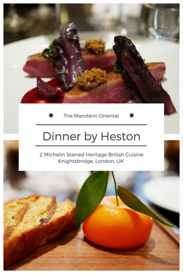 Dinner by Heston at the Mandarin Oriental Hotel, Knightsbridge, London