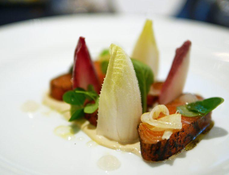 Earl Grey Tea Cured Salmon 2 - Dinner by Heston, Mandarin Oriental London