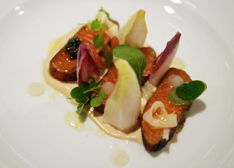 Earl Grey Tea Cured Salmon - Dinner by Heston, Mandarin Oriental London