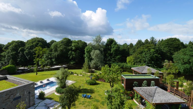 Galgorm Spa - view from bedroom