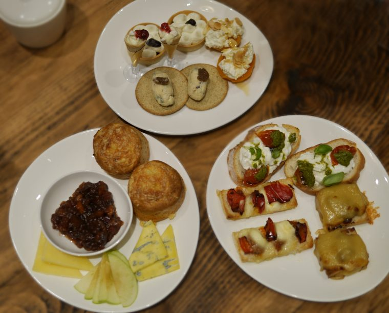 Georgian House Cheese Afternoon Tea - food