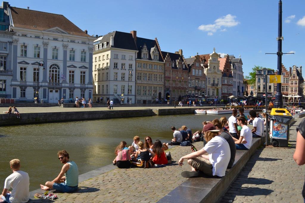Ghent Belgium canal banks