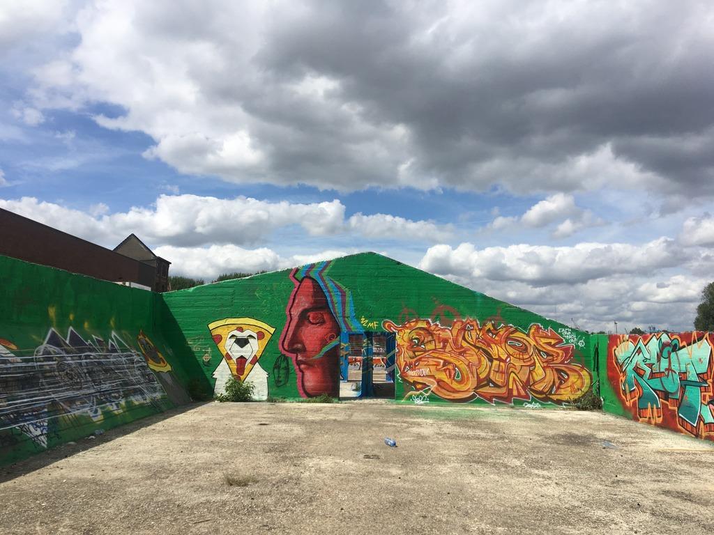 Ghent Belgium -Harbour street art