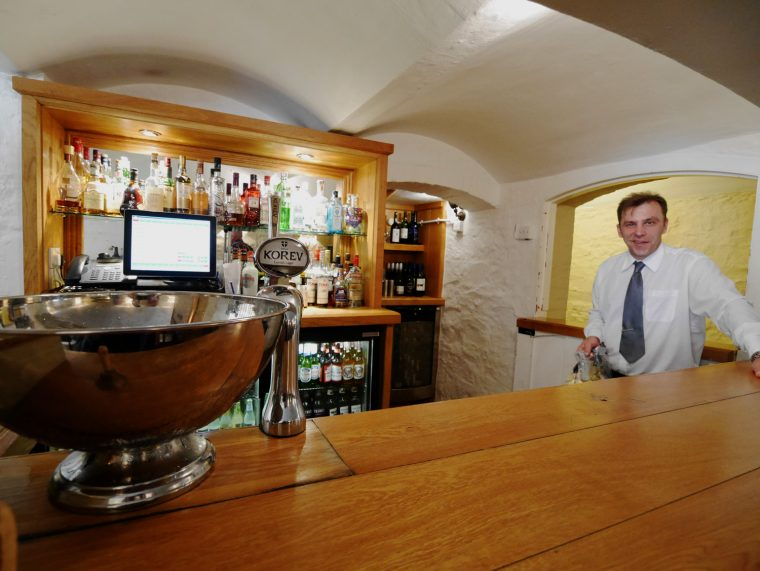Highbullen cellars bar