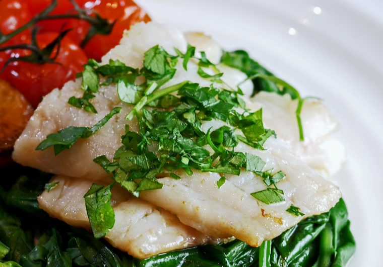 Rosemary Cured Pollock with tomatoes