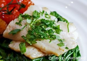 Rosemary Cured Pollock with Cherry Tomatoes