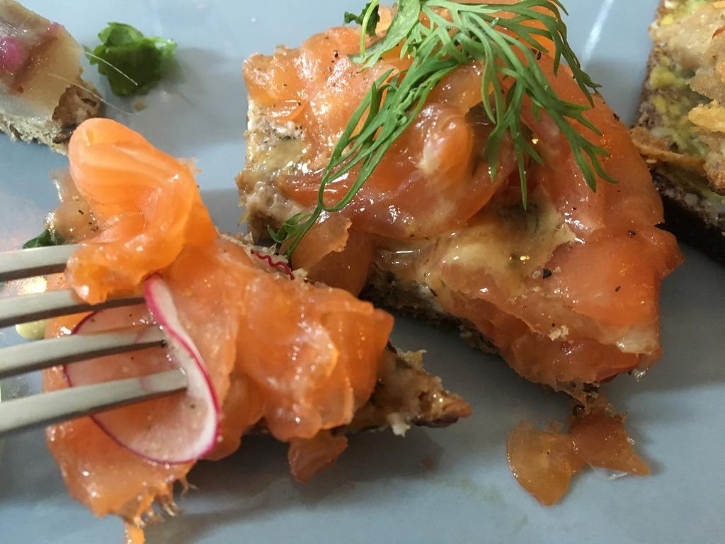 Snaps + Rye Salmon and rye