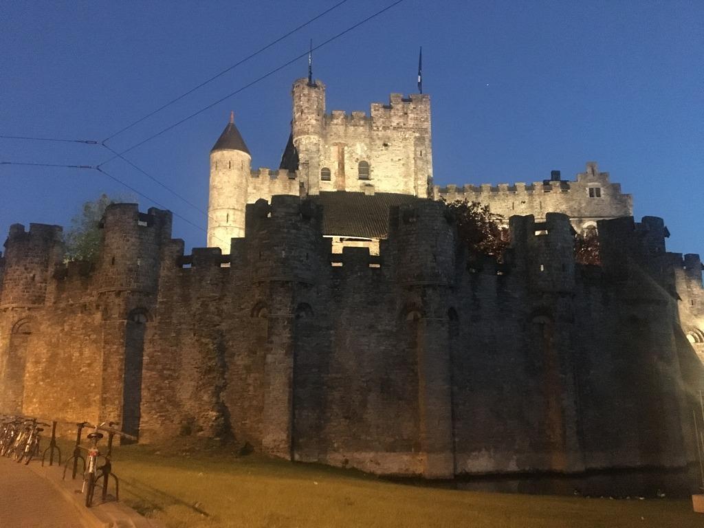 Ghent Belgium -The Castle of Counts of Flandersat night