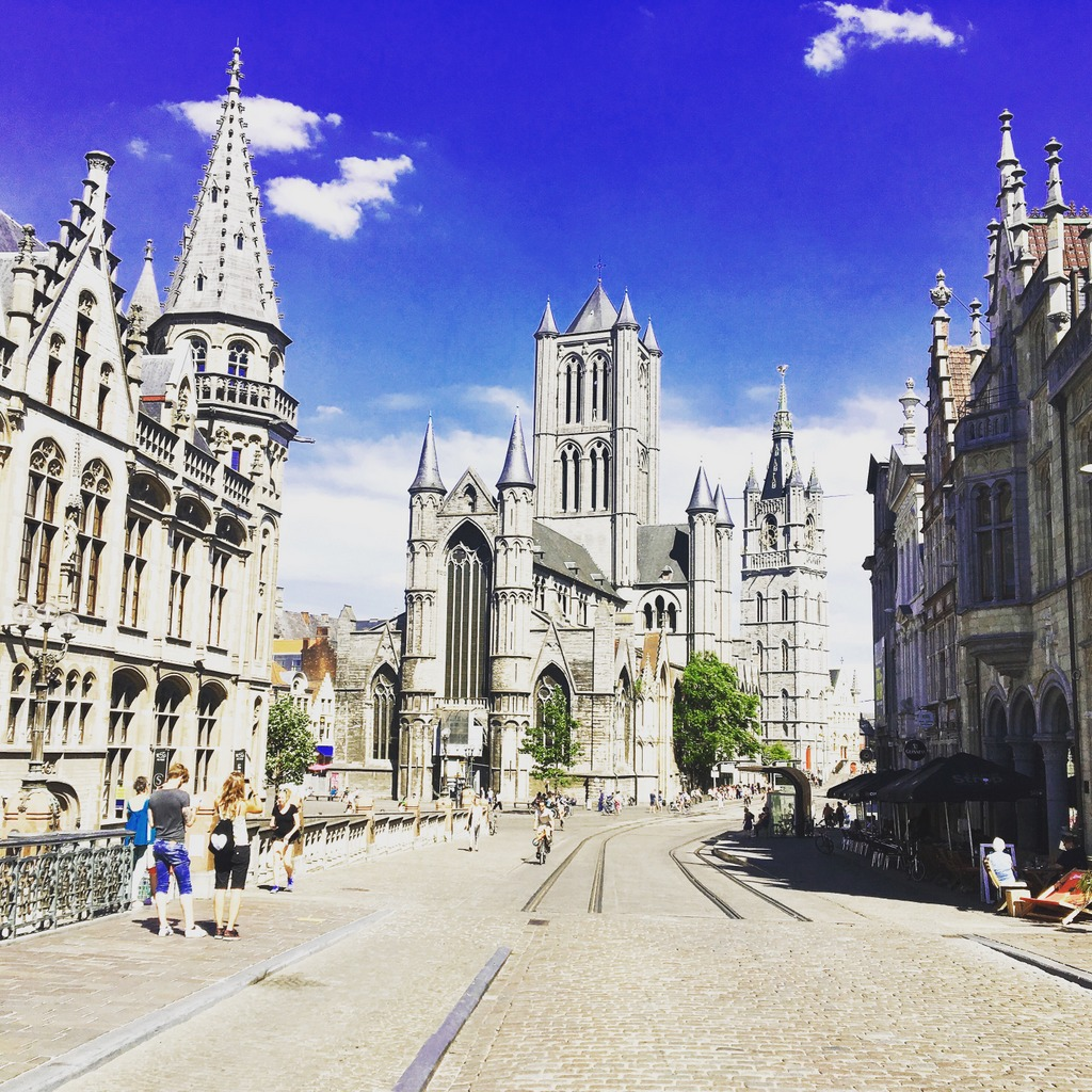 Ghent Belgium -The three towers