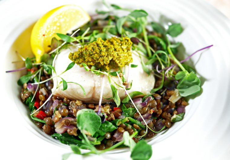 Black Cod with Chermoula and Spiced Lentils 2