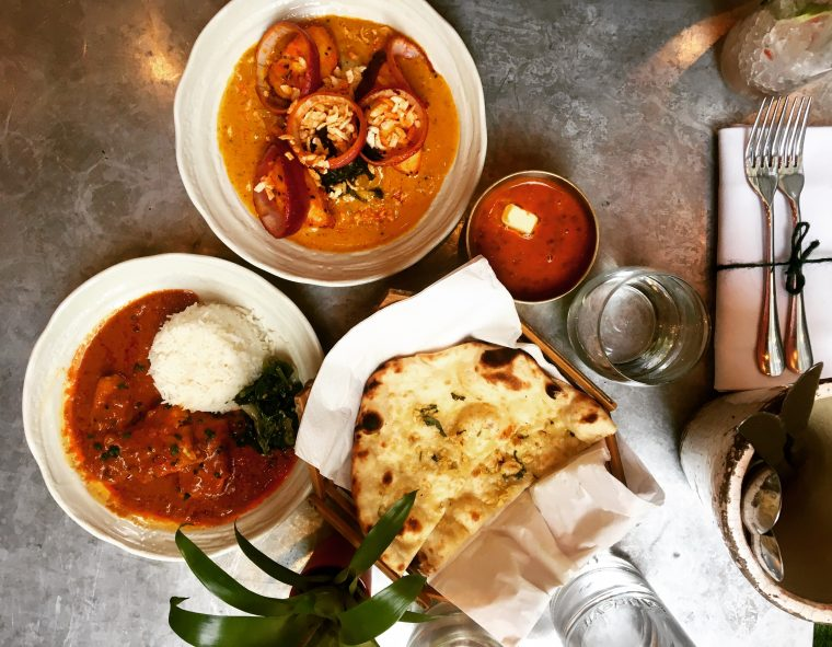 Cinammon Soho fish curry and nan