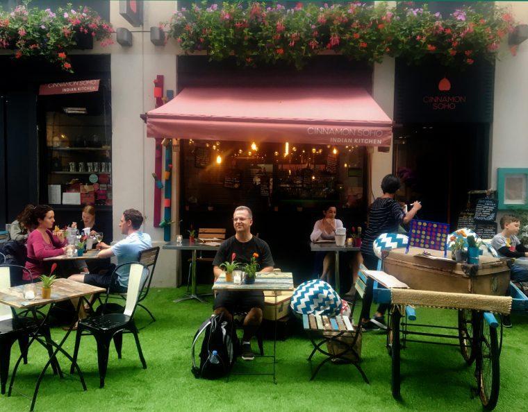 Cinammon Soho outdoor dining