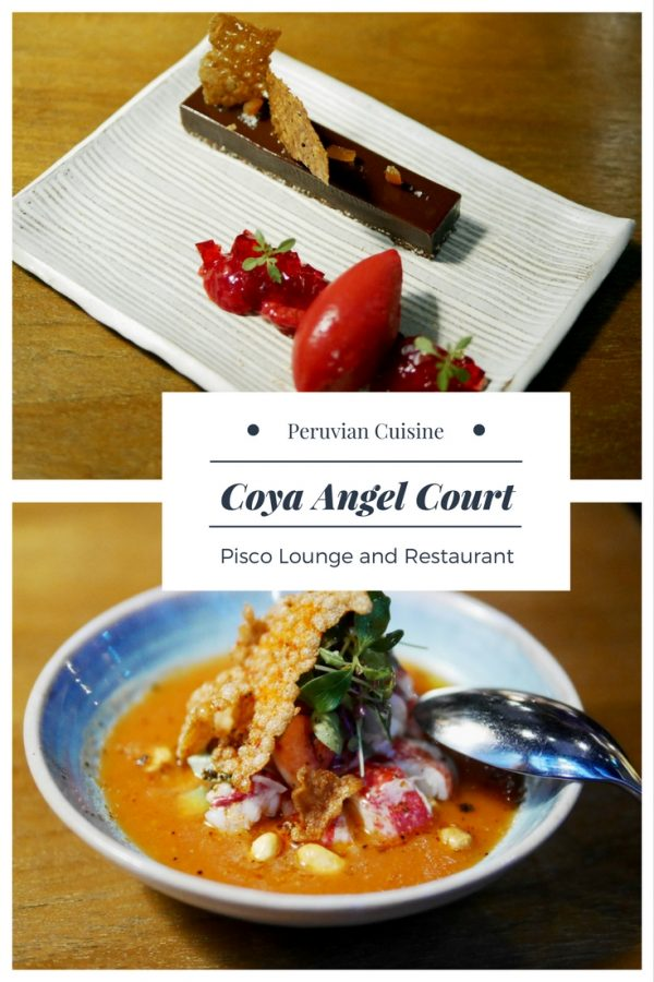 Coya Angel Court - Pisco Lounge and Restaurant in the City of London UK