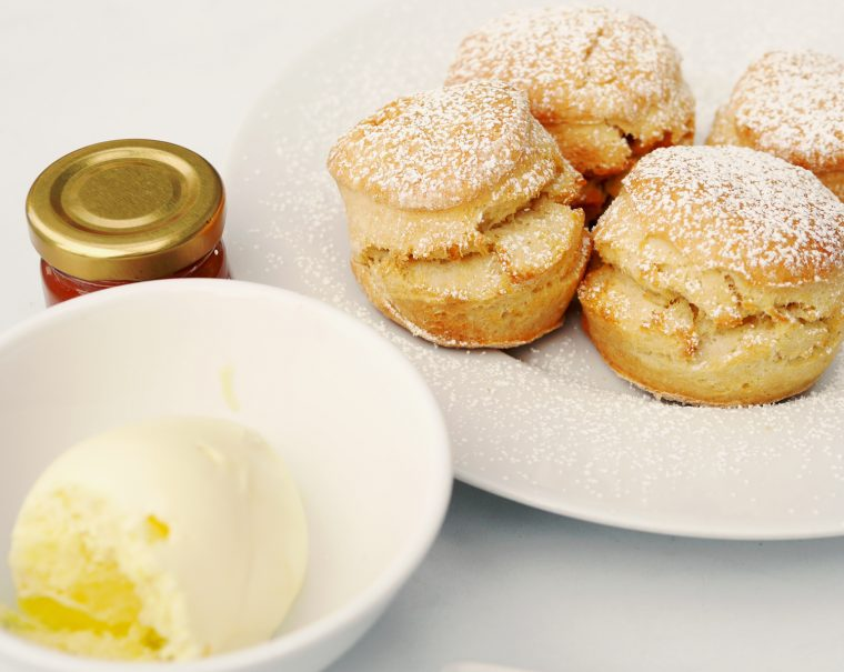Oxo Tower Restaurant Scones with Cream and Jam