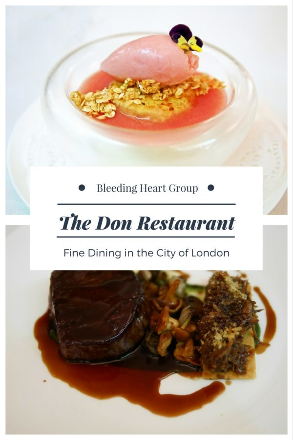 The Don a City of London Restaurant in a Grade I Listed Port