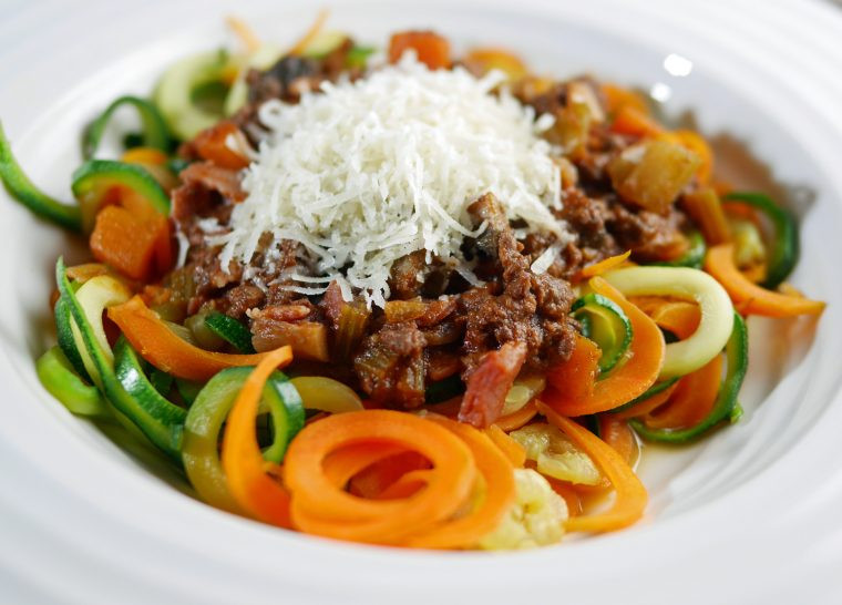 Fast day low cal spaghetti bolognese