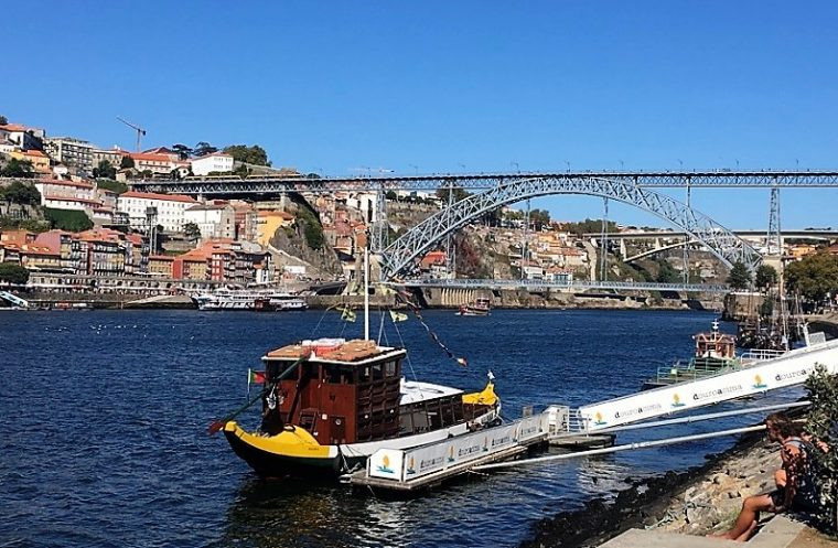 View of Dom Luis 1 Bridge Porto