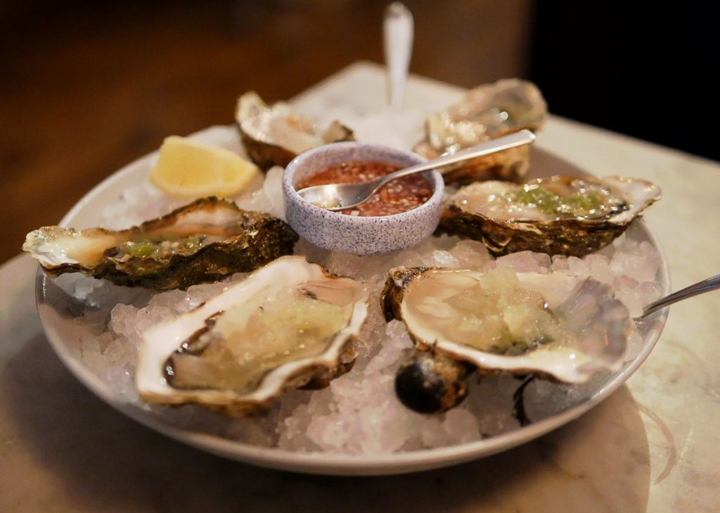 Fancy Crab Oysters 3 ways