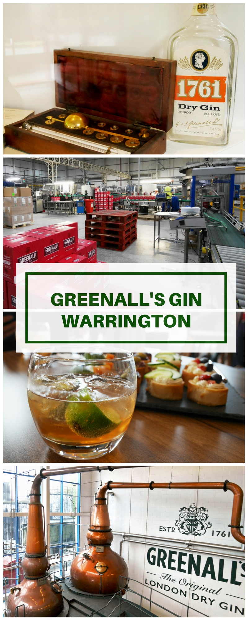 Greenall's Gin Distillery Sloe Gin and more in Warrington Greenall's