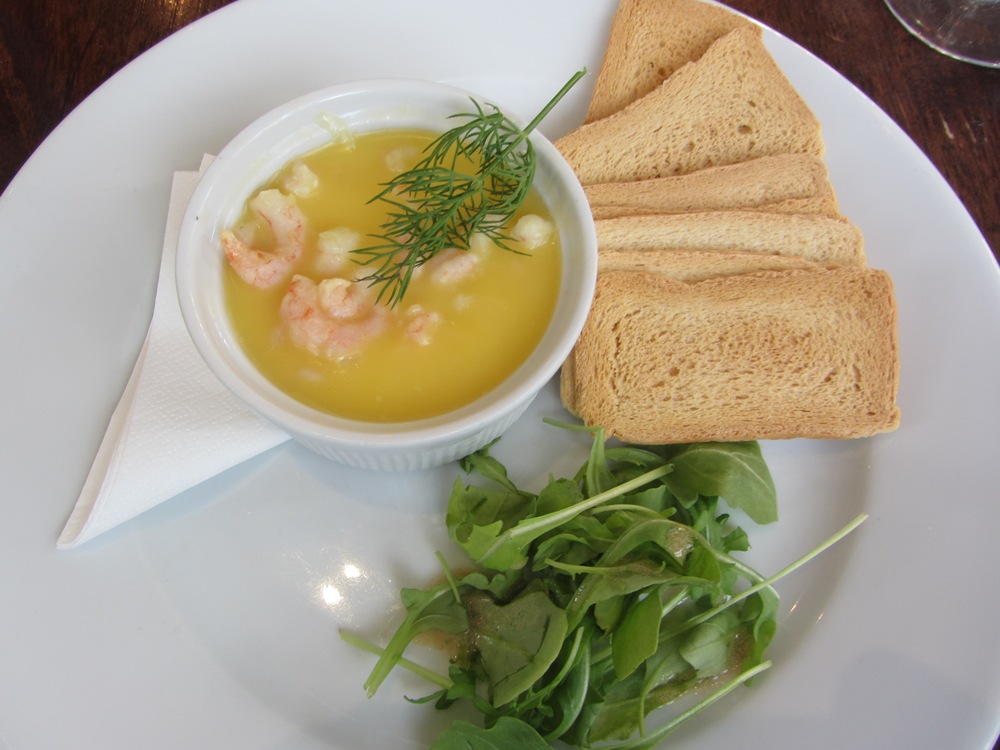 Manor arms - potted shrimp starter