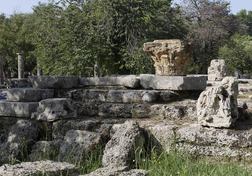 Olympia Temple column