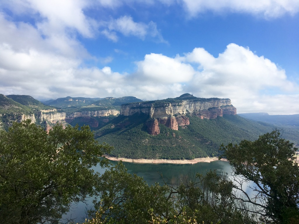 Sau Reservoir mountain views Catalonia