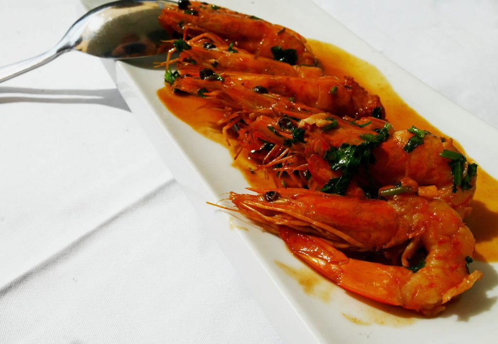 Alqueva Lake Restaurant - Prawns