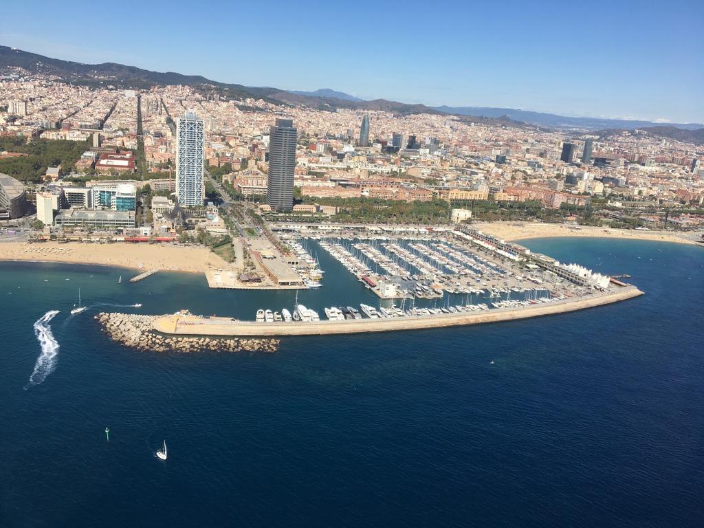 Ariel view - Barcelona's coastline