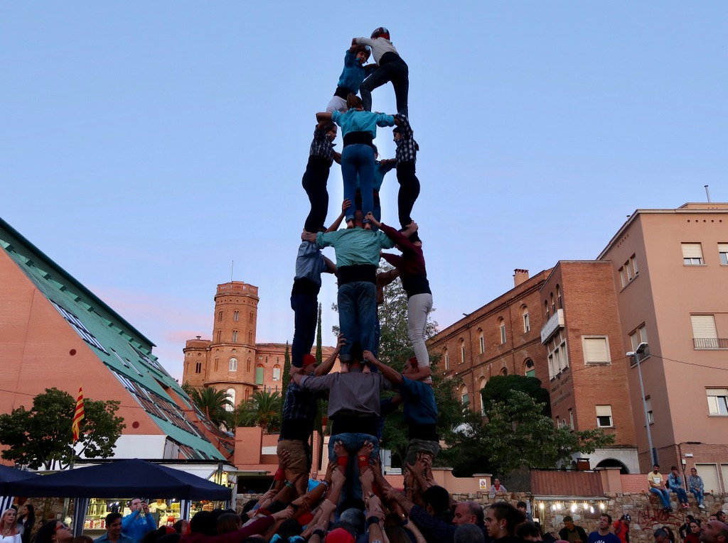 Castellers or Human Tower in Catalonia