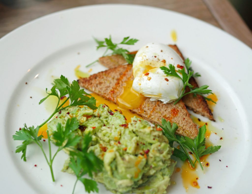Eggs and Avocado at Bermondsey Square Hotel