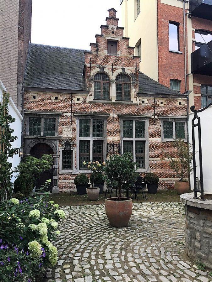 16th century house in garden of hotel