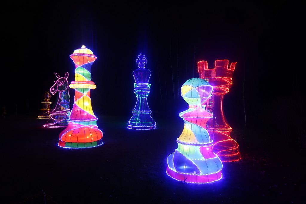 magical Lantern Festival - chess pieces