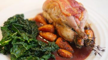 Partridge in Red Wine and Medlar Sauce