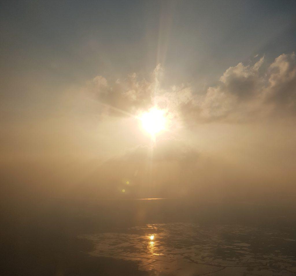 India Plane Sunset
