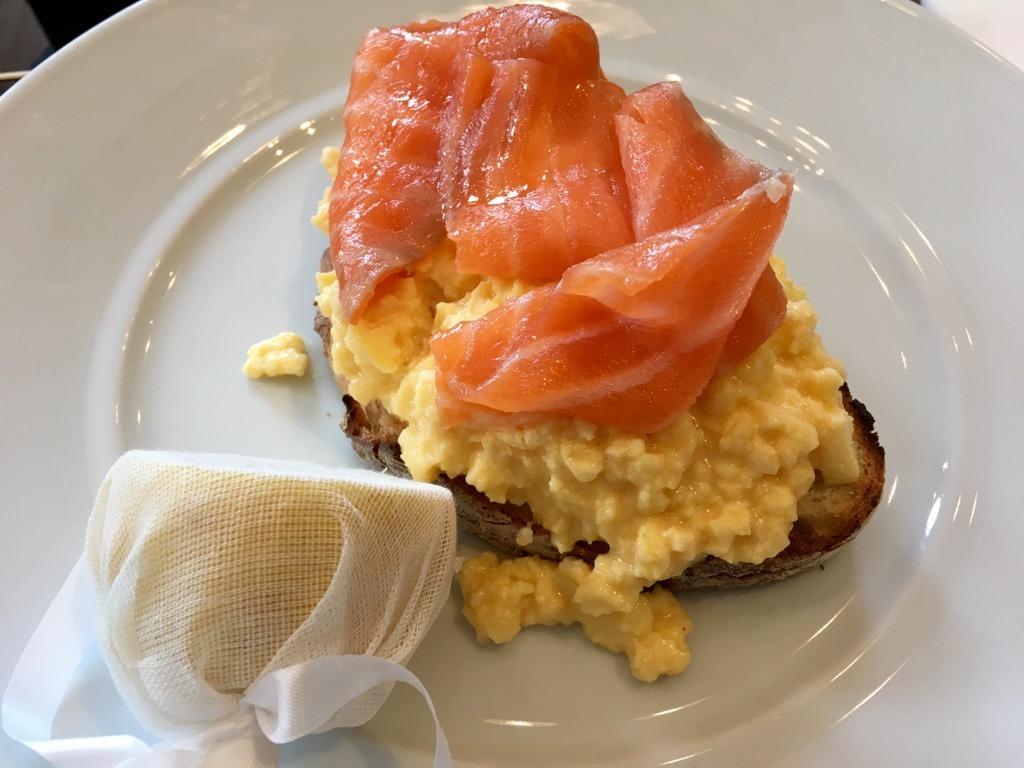 The Balcon smoked salmon and egg