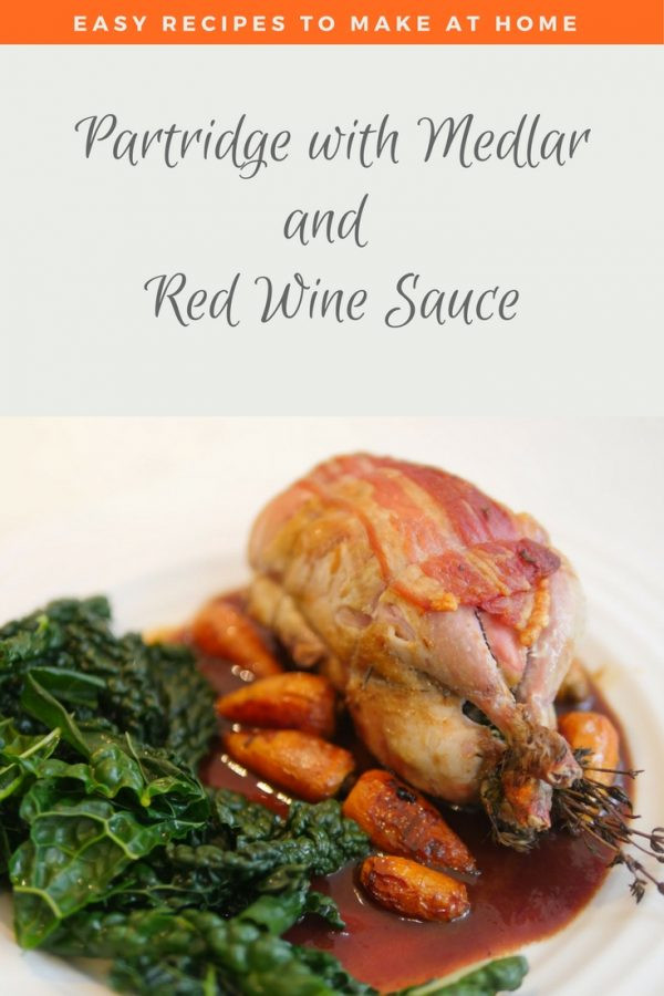 roast partridge_ red wine sauce for game_ Partridge recipe _ Partridge Red Wine Sauce_ Partridge Medlar and Red Wine _ Game Red Wine Sauce