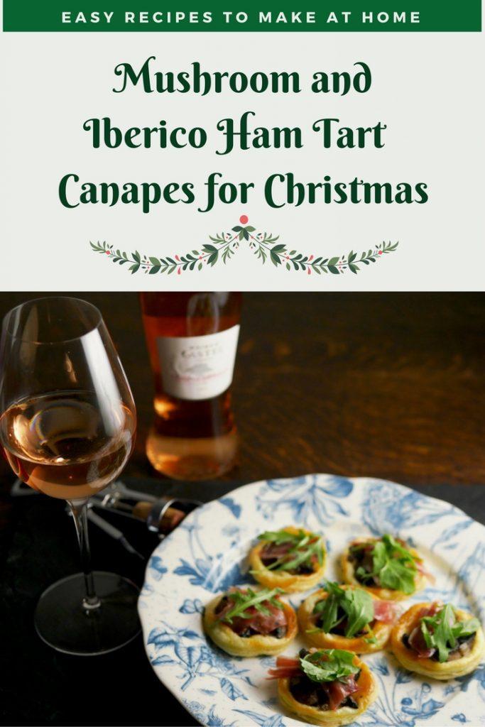 Christmas Recipe _ Christmas Canape _ Christmas Mushroom Ham Tart _ Mushroom Ham Tart _ Mushroom Ham Tart Canapes