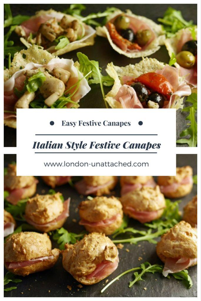 Festive Canapes _ Easy Canape Recipe _ Christmas Canape Recipe _ Italian Style Canape Recipe _ Italian canapes _ Festive Canape Recipe