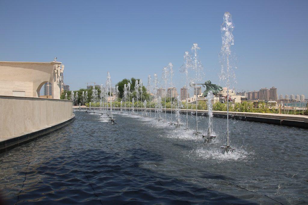 Qatar Doha Katara Cultural Village Lorenzo Quinn Fountain