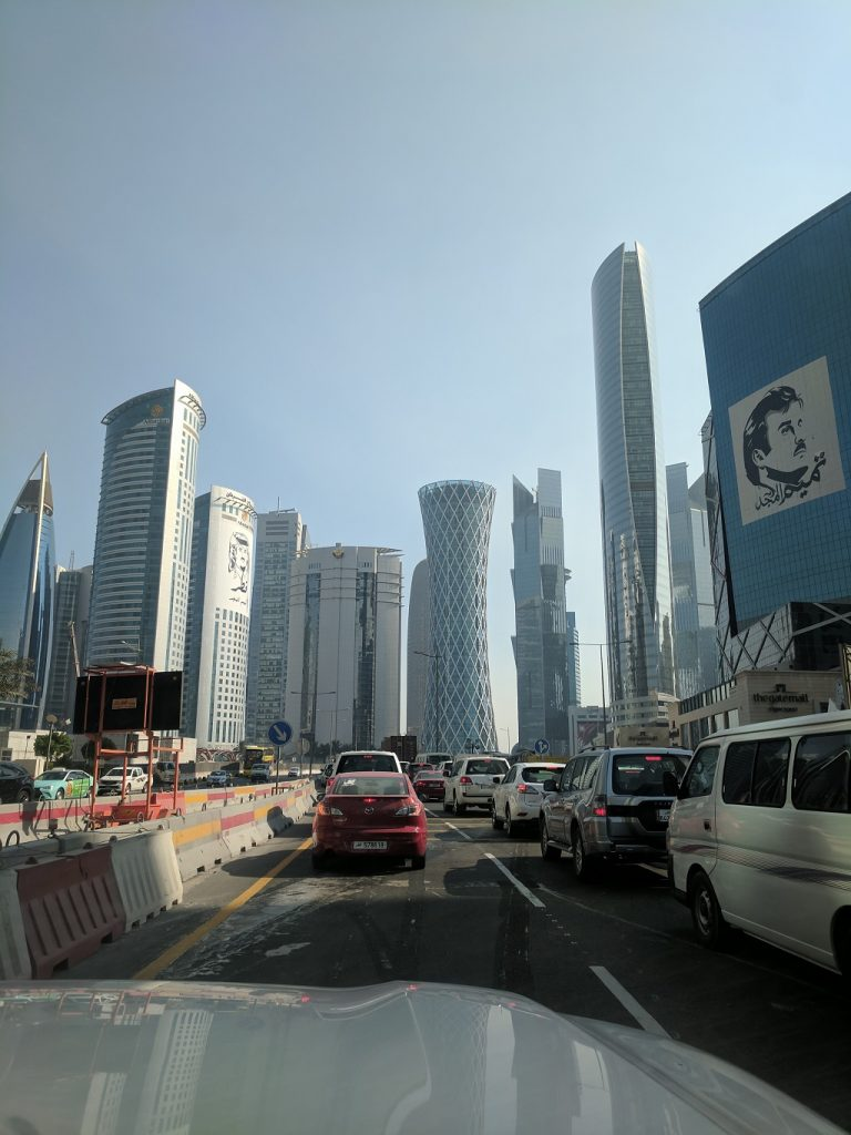 Qatar Doha Rush Hour Traffic