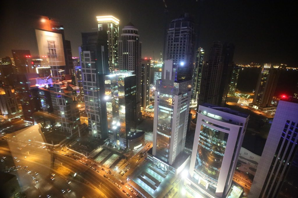 Qatar Doha Shangri La Room View at Night