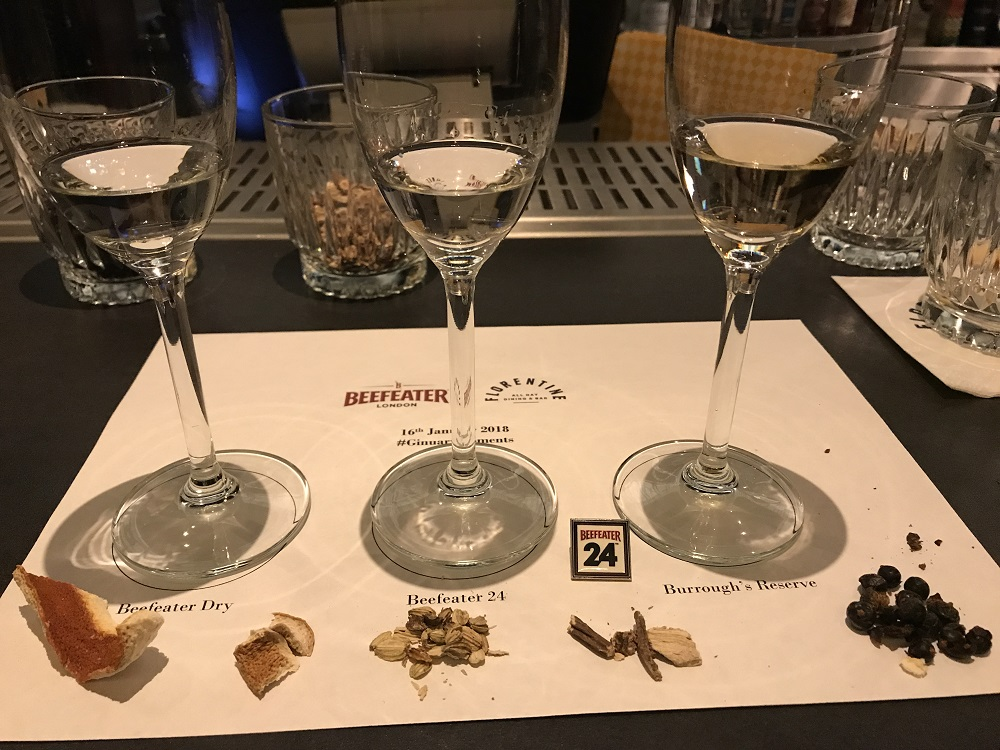 Beefeater Gin tasting 0botanicals