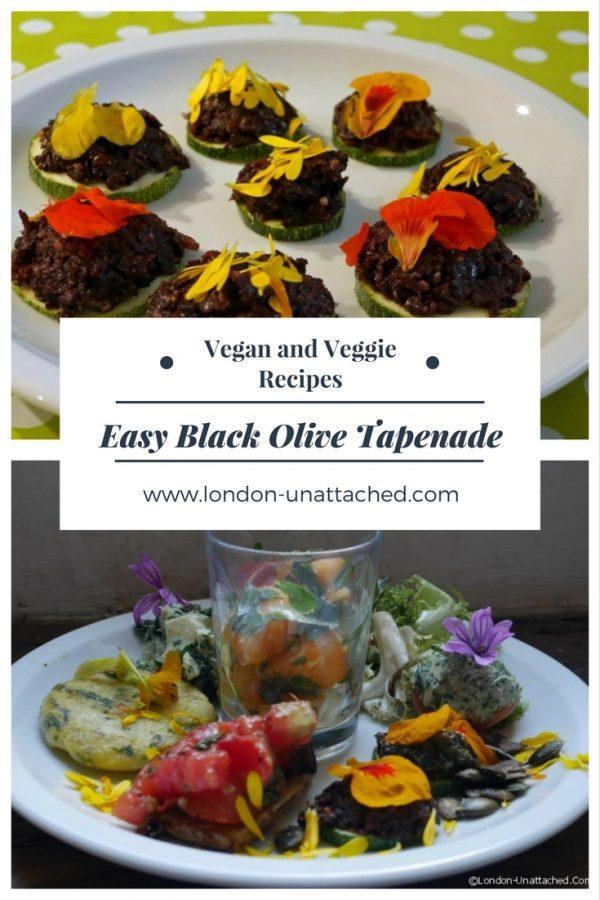 Black Olive Tapenade _ Vegetarian Tapenade _ Vegan Olive and Almond Tapenade _ Olive and Almond Tapenade