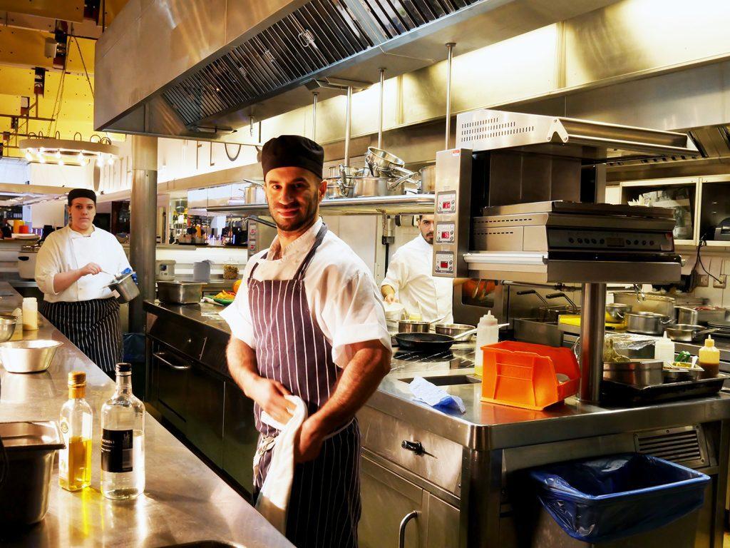 Harvey Nichols 5th floor cafe kitchen