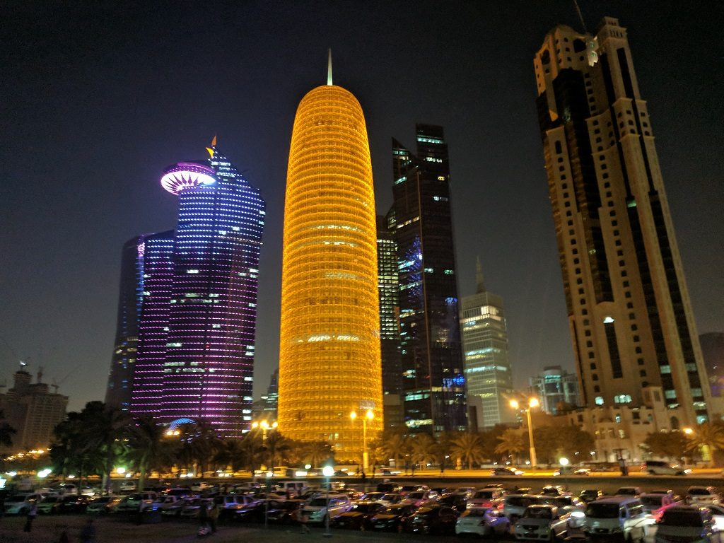 Qatar Doha City Lights
